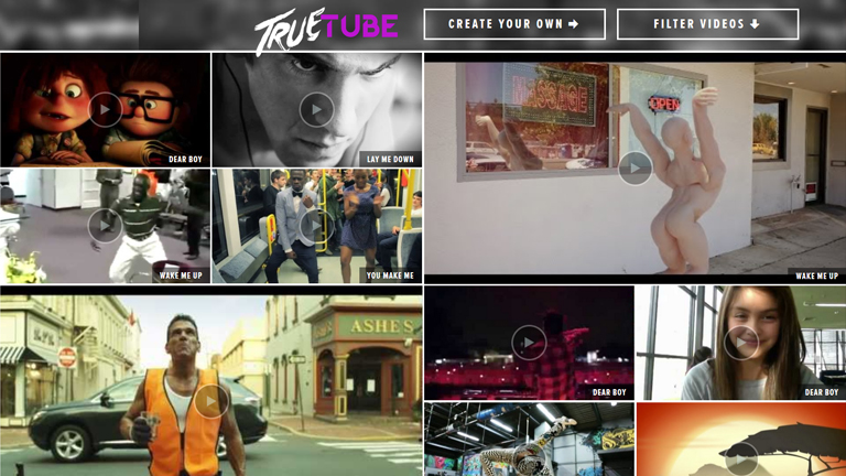 Avicii - True Tube interactive music video, directed by fourclops::), on 2Pause