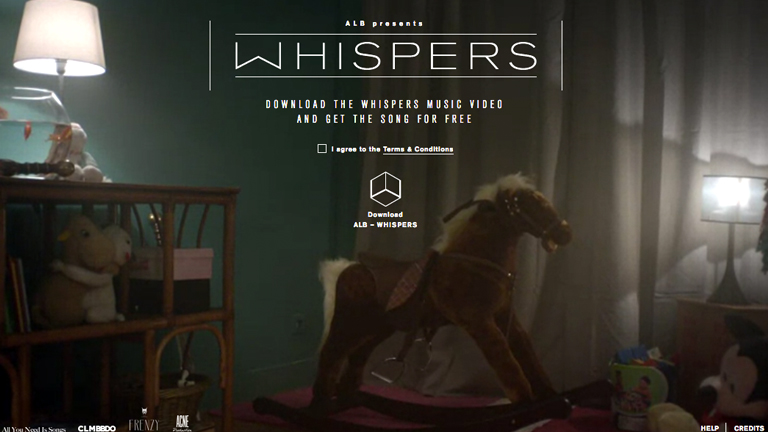 ALB - Whispers interactive music video