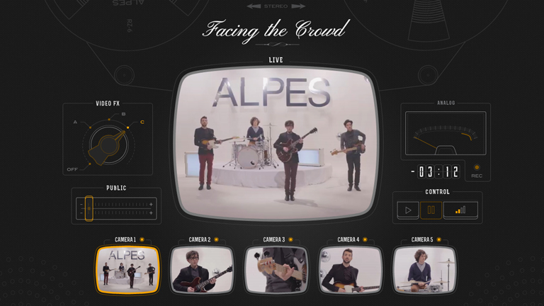 Alpes - Facing the Crowd interactive music video directed by Robey